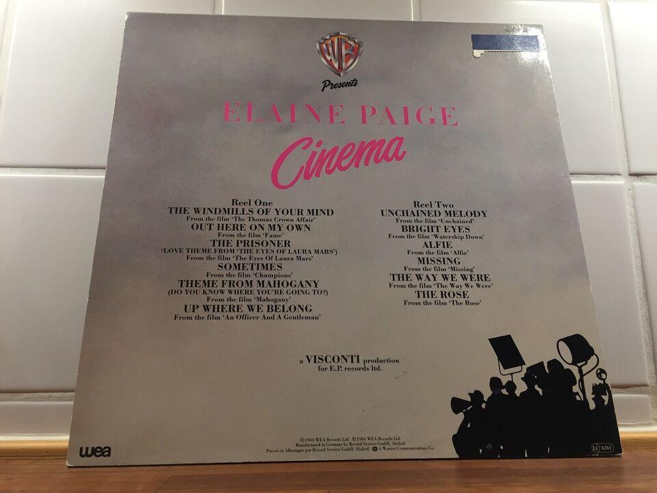 LP, Elaine Paige, Cinema
