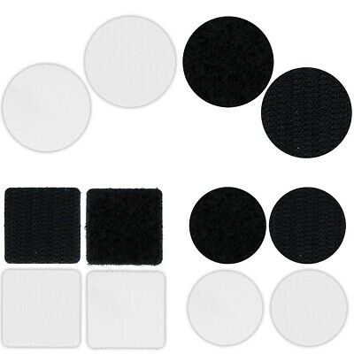 self adhesive hook and loop fastener squares 100 pairs X 16mm black