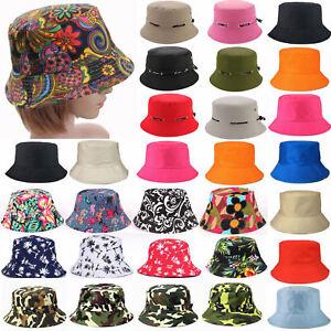 Mens Womens Bush Bucket Boonie Hat Festival Fishing Fisher Summer ... 9c4b89d05f