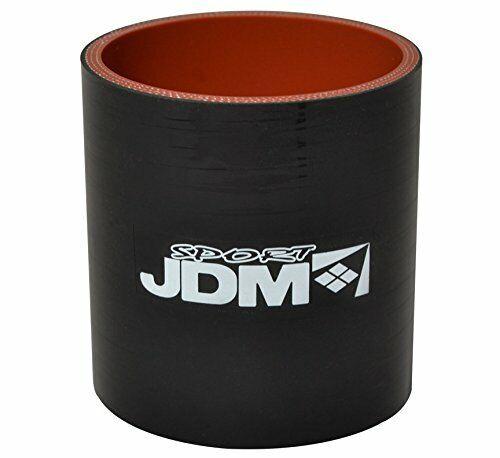 "JDM 4/"" Diameter Straight Silicone Coupler Intercooler Black//Red"