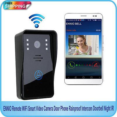 Wireless WiFi Remote Video IR Camera Door Phone Rainproof Doorbell Home Security