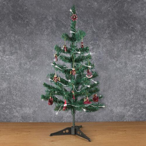 60 cm Mini Vert Artificiel Arbre De Noël Avec Lumières et décorations