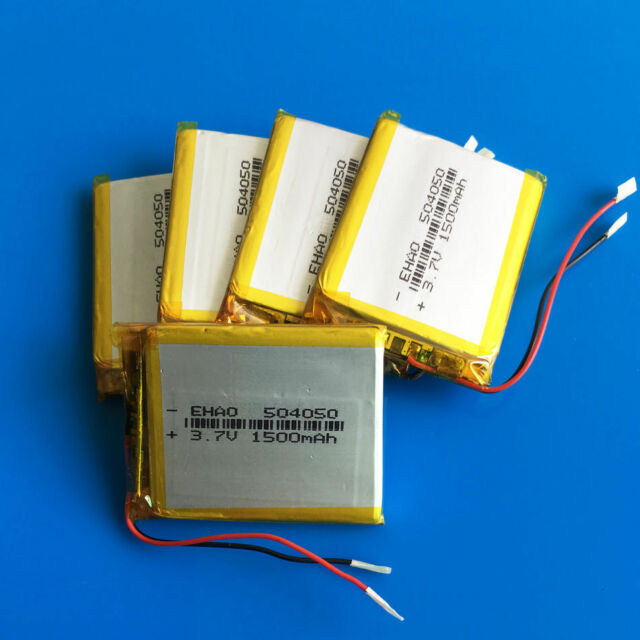 5 pcs 3.7V 1500mAh Li Po Battery For PC DVD GPS Camera Recorder PSP MID 504050