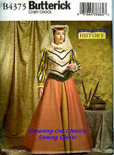 Renaissance Tudor Costume Miss 14 16 18 20 Sewing Pattern Butterick UNCUT 4375
