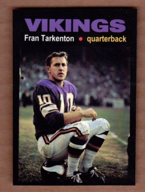 Fran Tarkenton '61 Minnesota Vikings rookie year Monarch Corona Glory Days #13