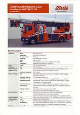 MAN TGM Metz 2014 catalogue brochure Pompiers Fire Truck Feuerwehr