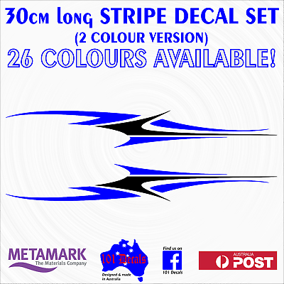 30cm STRIPE #2 STRIPING 2 colour boat,tinny,runabout marine decal sticker set!