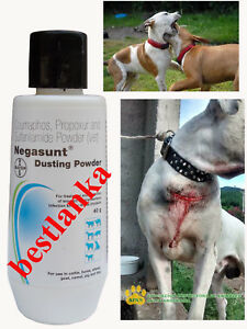 Negasunt Dusting Powder Active Wound  Treatment for Animals Pets First Aid 40g
