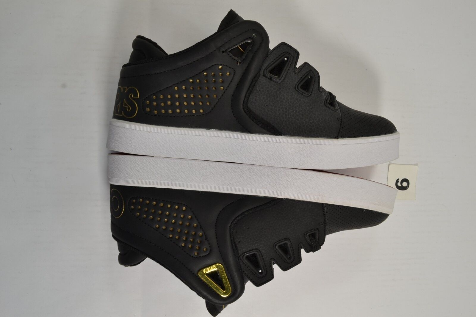 Osiris D3V Black Gold White Casual Skate Sneaker Discounted (201) Men's Shoes