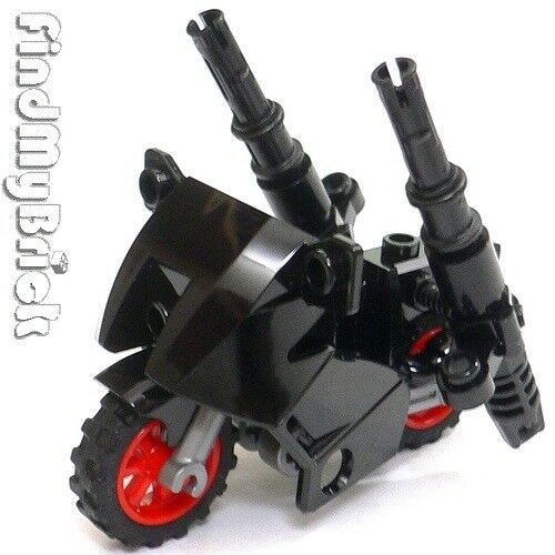 NEW Black NEW Lego Batman Nightwing Minifigure Motorcycle with Super Cannons