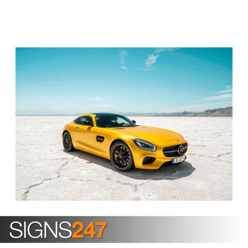 2015 MERCEDES AMG GT Photo Poster Print Art A0 A1 A2 A3 A4 0099 Car Poster