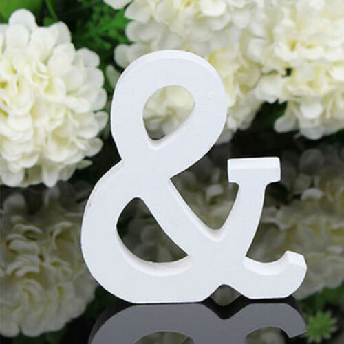 26 Large Wooden Letters Alphabet Wall Hanging Wedding Party Home Decoration Uig
