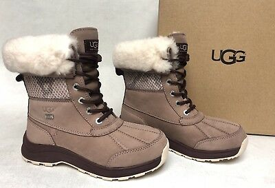 UGG Australia Andirodack II Black leather waterproof lace up boots women's 9