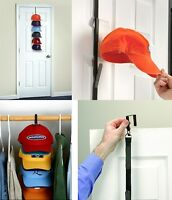 Cap Rack System Baseball Hats Visors Over Door Holder Mount Organizer Storage