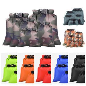 3pcs Set Storage Dry Sack Bag Outdoor Waterproof Canoe Hiking Camping Kayak Fish