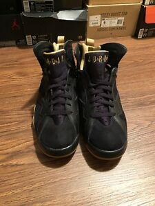 newest collection aa253 ab99c Image is loading Nike-Air-Jordan-VII-7-Retro-Black-Gold-