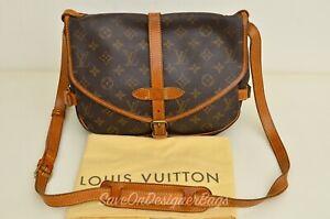 Louis-Vuitton-LV-Saumur-30-Messenger-Bag-Used-Authentic-w-Dustbag
