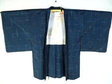 Vintage Japanese Kimono WOMAN HAORI Coat Traditional Design Art Silk H914