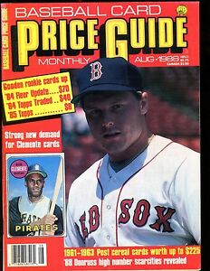 Scd Baseball Card Price Guide August 1988 Roger Clemens