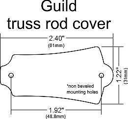 blank truss rod cover for guild guitars ebay rh ebay com