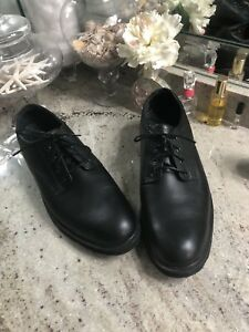 rockport mens oxfords waterproof black leather work casual