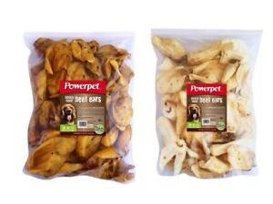 Beef SMOKED and NATURAL Cow Ears Dog Chew Treats 100 count
