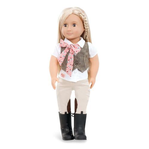 La nostra generazione Bambole-Leah Equitazione Bambola 18 pollici con vestito da equitazione