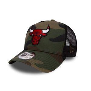 New-Era-Nba-Chicago-Bulls-Camuflaje-visera-en-curva-ajustable-CAMIONERO-Snapback