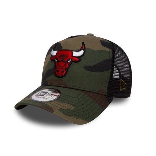 New Era NBA Chicago Bulls Camouflage Curved Peak Adjustable Trucker Snapback