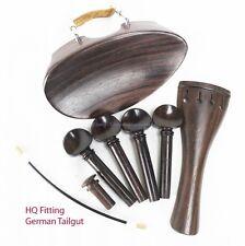 YDC Violin Rosewood  Fitting 8 Piece Set --German Tailgut --Flat Flesch Chinrest