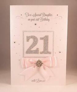 Image Is Loading LUXURY TWENTY FIRST 21st Large Handmade Birthday Card