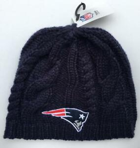 NEW ENGLAND PATRIOTS WOMAN S NFL TEAM HEADWEAR NAVY CABLE KNIT HAT ... c8141a4f6