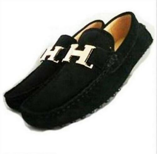 British Fashion Men/'s Nubuck Cow Leather Slip On Driving Moccasin Loafer Shoes