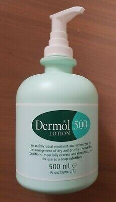 Dermol 500 Lotion. 500ml Moisturiser/Soap Substitute ...
