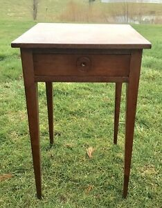Image Is Loading RARE Antique SHAKER CHERRY SPLAY LEG ONE DRAWER
