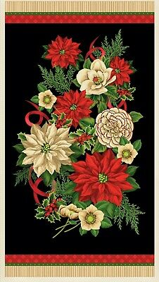 """Fabri-Quilt Christmas Holiday Editions 56/"""" Tablecloth Panel 100/% cotton fabric"""