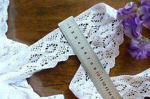 Cluny-Cotton-Lace-WHITE-50mm-wide-1-7-Metre-Lengths-Edged-Aft263-Sunrise