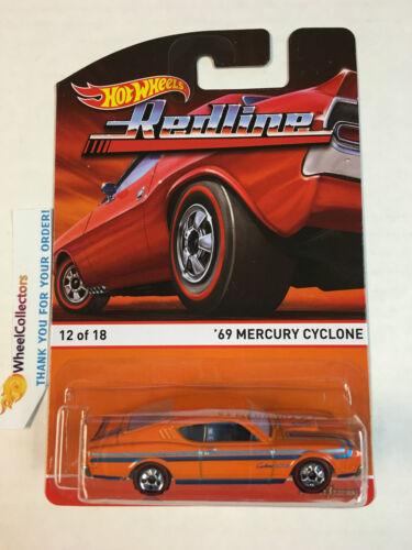 B1 2015 Hot Wheels RedLine Heritage D Case /'69 Mercury Cyclone Orange