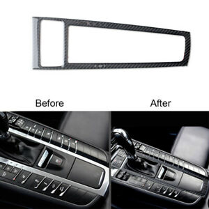 Carbon-Fiber-Gear-Shift-Frame-Panel-Cover-Trim-For-Porsche-Macan-2014-2019
