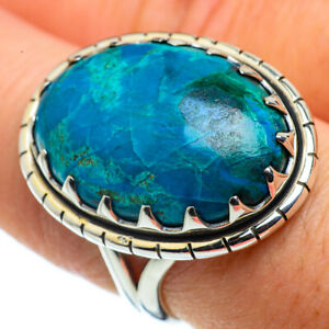 Chrysocolla-925-Sterling-Silver-Ring-Size-8-25-Ana-Co-Jewelry-R43688F