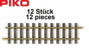 Piko-G-35201-S-Gerades-Gleis-G280-Laenge-278-46-mm-12-Stueck-NEU-OVP
