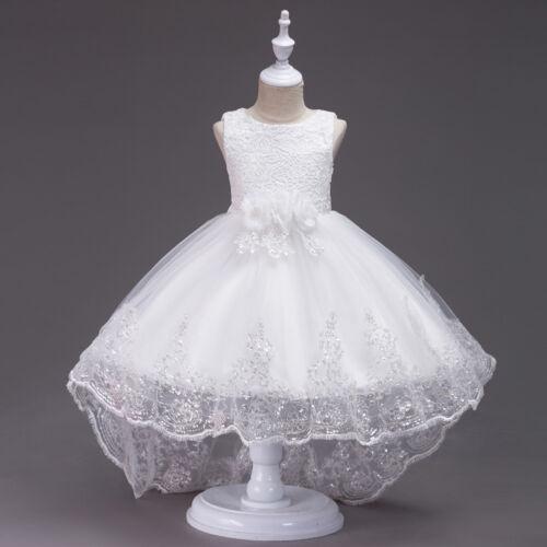Flower Girl Bow Princess Dress Xmas Kids Formal Dresses Party Wedding Bridesmaid