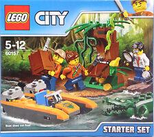 LEGO 60157 Dschungel Starter Set 3 Figuren 3 Tiere Boot Baum Lupe Schatz NEU OVP