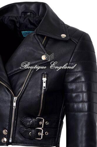 a maniche motociclista nera pelle corte in reale da Giacca donna 5625 stile da 100 1pnwqIZRxA