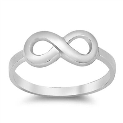 Plain Infinity Symbol .925 Sterling Silver Ring Sizes 3-12