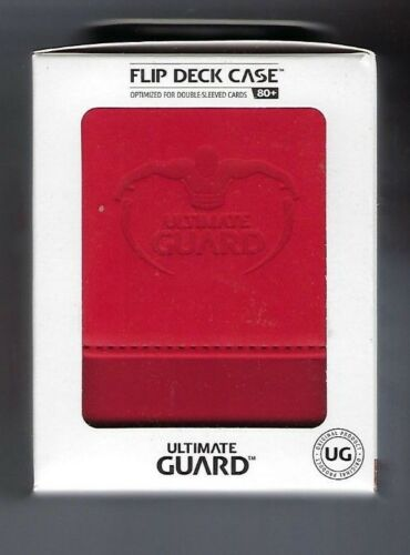 Game Card Box ULTIMATE GUARD LEATHERETTE FLIP DECK CASE Standard Size RED 80