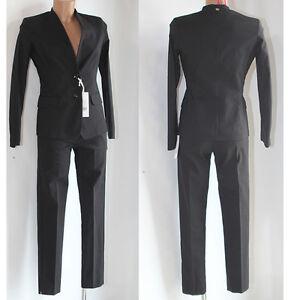 e460906f06 Dettagli su Abito Vestito donna Tailleur giacca pantalone 42 Giorgia e  johns nero completo