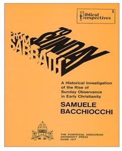 Desde Sabbath a Domingo por apasionando Bacchiocchi (de Bolsillo) NUEVO