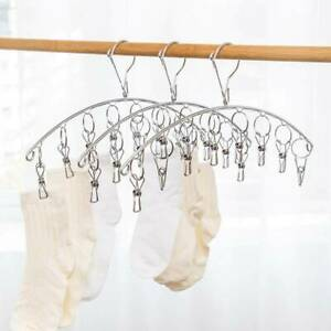 Hanger Clip Dryer Rack Stainless Steel Foldable Underwear Socks Clothes Ai Clou