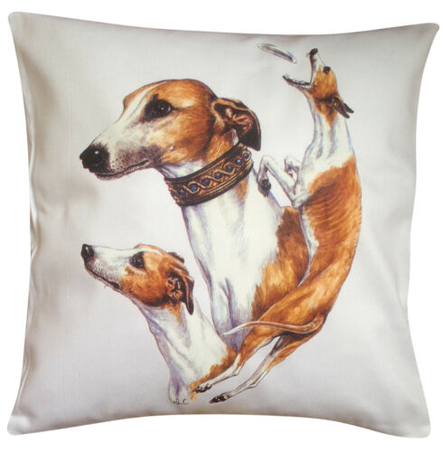 Perfect Gift Whippet Group Breed of Dog Cotton Cushion Cover